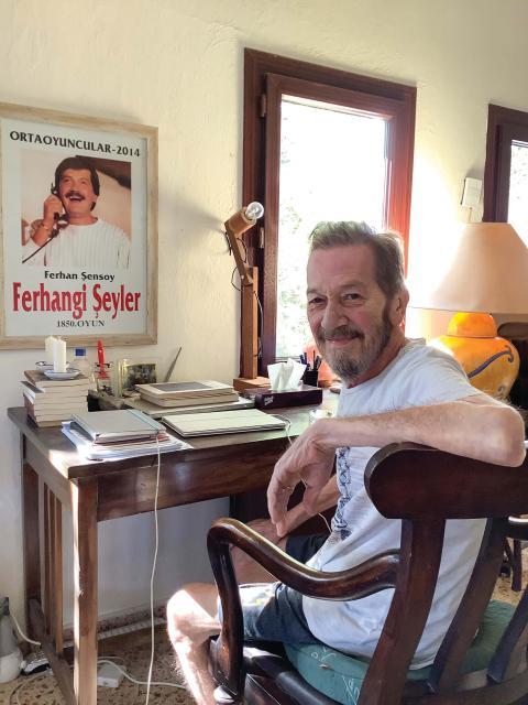 Ferhan Şensoy geçtiğimiz yıldan bu yana Bodrum'daki evinde